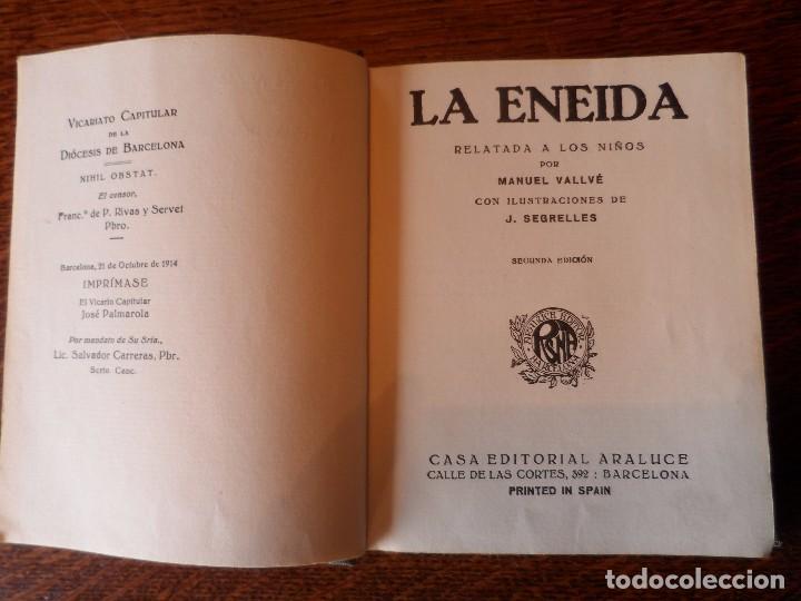 Libros antiguos: LA ENEIDA, RELATADA A LOS NIÑOS, COLECCIÓN ARALUCE, AÑO 1914 - Foto 9 - 89261204