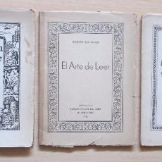 Libros antiguos: LOTE 3 LIBROS DE LA CÁMARA OFICIAL DEL LIBRO DE BARCELONA (1934-1936). Lote 89270672