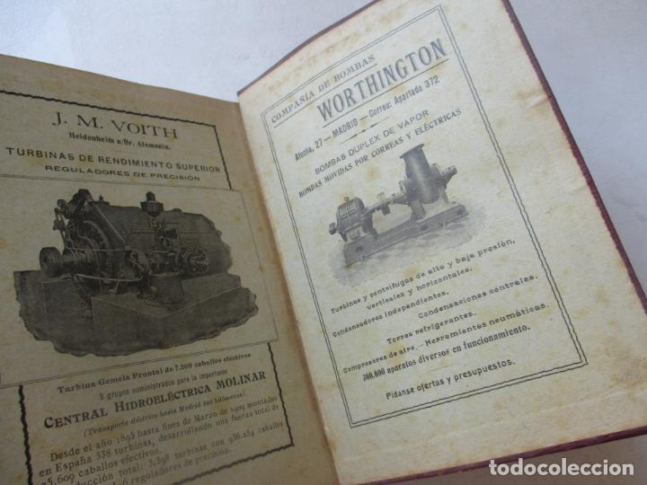 Libros antiguos: BIBLIOTECA DE INGENIERÍA-MANUAL DE HIDRÁULICA-R. BUSQUET-1908- TIPOGRAFÍA DE J. PALACIOS- MADRID - Foto 6 - 89276500