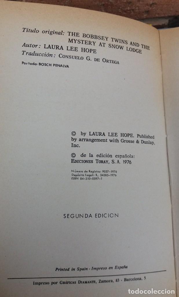 Libros antiguos: LOTE DE LIBROS DE TORAY SERIE LOS GEMELOS EN BUEN ESTADO ORIGINALES - Foto 4 - 89294832