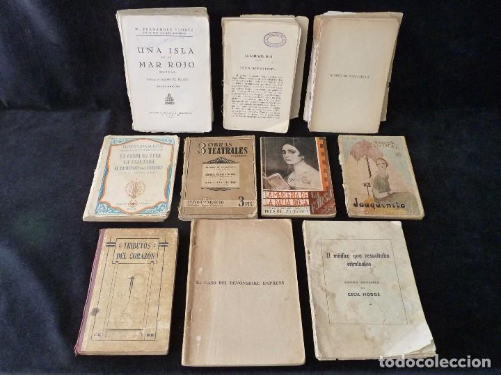 LOTE DE ANTIGUOS LIBROS Y NOVELAS LITERATURA, TEARO Y POESIA. LA LÁMPARA ROJA, J. BENAVENTE, FERNAND (Libros Antiguos, Raros y Curiosos - Literatura - Otros)