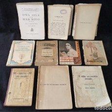 Libros antiguos: LOTE DE ANTIGUOS LIBROS Y NOVELAS LITERATURA, TEARO Y POESIA. LA LÁMPARA ROJA, J. BENAVENTE, FERNAND. Lote 89378908