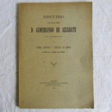 Libros antiguos: DISCURSO DE CÁTEDRA DE GUMERSINDO DE AZCÁRATE 1893. ATENEO CIENTÍFICO Y LITERARIO DE MADRID. Lote 89381912