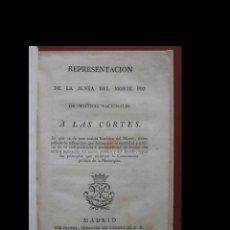 Libros antiguos: REPRESENTACION DE LA JUNTA DEL MONTE PIO DE OFICINAS NACIONALES Á LAS CORTES. EN QUE SE DÁ NOTICIA... Lote 89411044