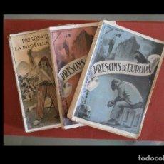 Libros antiguos: PRESONS D'EUROPA. LES PRESONS DE BARCELONA. I-II SERIE. LA BASTILLA. 3 VOLÚMENES. F. GIRBAL. Lote 89417976