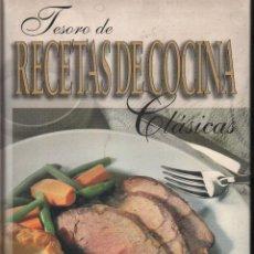 Libros antiguos: TESORO DE RECETAS DE COCINA CLASICAS LIBROS. Lote 89542060
