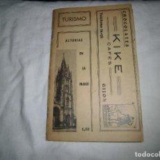 Libros antiguos: ASTURIAS EN LA MANO 1933 (TURISMO).LINO CARBAYO.PUBLICIDAD CHOCOLATES KIKE. Lote 89571828