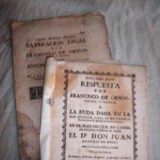 Libros antiguos: PLEITOS DE FRANCISCO DE HORNOS REAL AUDIENCIA - AÑO 1726-1763.. Lote 89676392