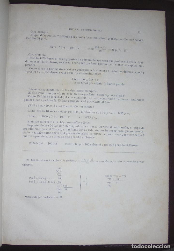Libros antiguos: TRATADO COMPLETO DE CONTABILIDAD MERCANTIL INDUSTRIAL Y ADMINISTRATIVA. TOMO III. 1885. BARCELONA. - Foto 4 - 89729096
