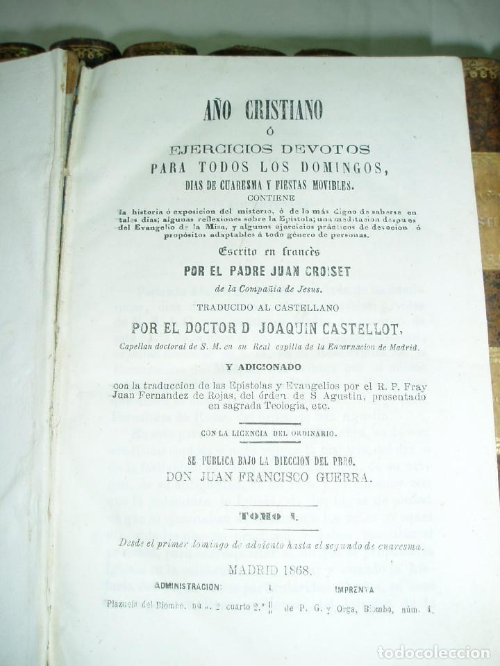 Libros antiguos: Año cristiano - Foto 2 - 89806000