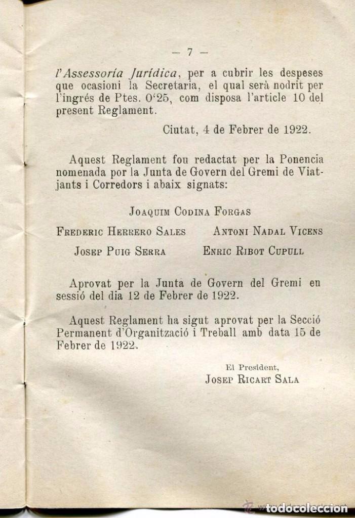 Libros antiguos: AA LIBRO-ORIGINAL REGLAMENT INTERIOR CENTRE AUTONOMISTA DE DEPENDENTS-1922-MUY RARO-ÚNICO- - Foto 2 - 89810092