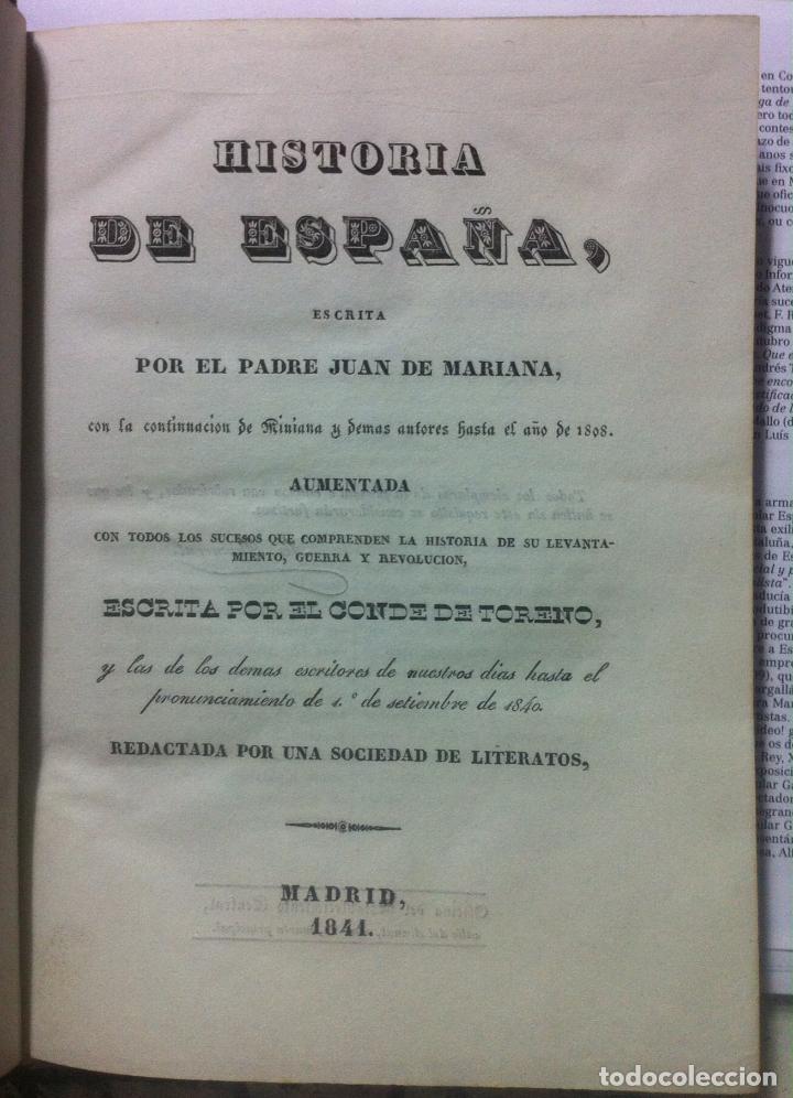 Libros antiguos: Juan de Mariana. Historia de España. 1841 - Foto 4 - 89874324