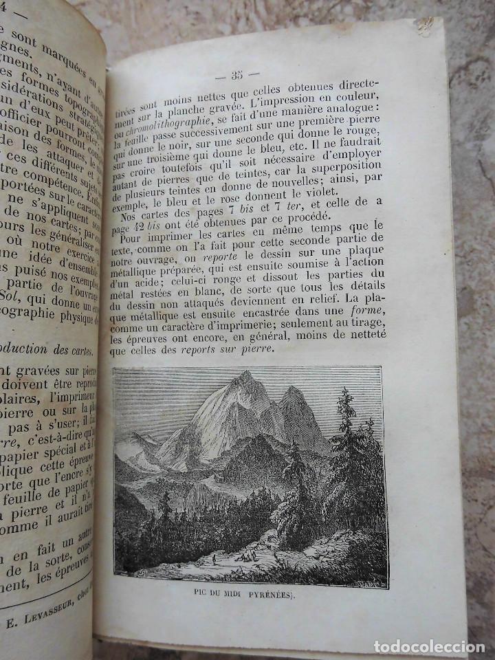 Libros antiguos: PREMIÈRES NOTIONS SUR LA LECTURE DES CARTES TOPOGRAPHIQUES (1876) - ILUSTRADO CON MÚLTIPLES GRABADOS - Foto 3 - 90149996