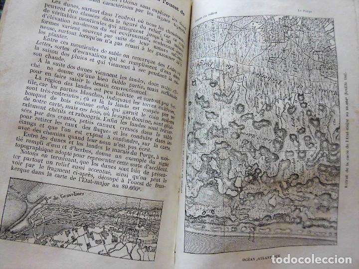 Libros antiguos: PREMIÈRES NOTIONS SUR LA LECTURE DES CARTES TOPOGRAPHIQUES (1876) - ILUSTRADO CON MÚLTIPLES GRABADOS - Foto 7 - 90149996