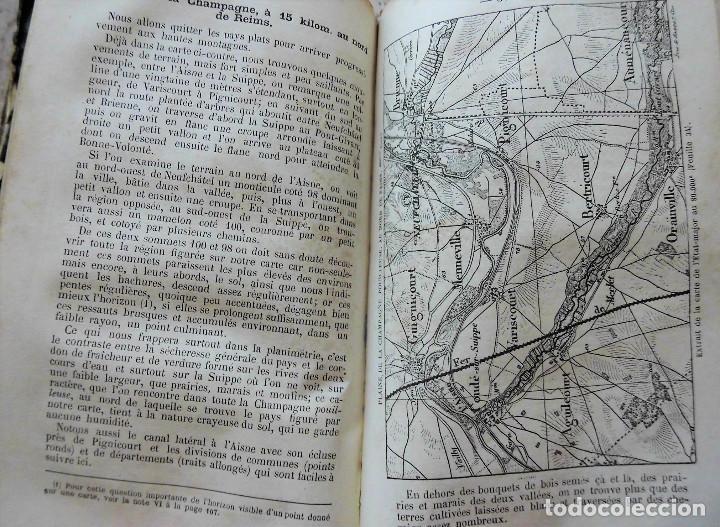 Libros antiguos: PREMIÈRES NOTIONS SUR LA LECTURE DES CARTES TOPOGRAPHIQUES (1876) - ILUSTRADO CON MÚLTIPLES GRABADOS - Foto 8 - 90149996