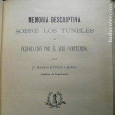 Libros antiguos: 1901 TÚNELES Y PERFORACIÓN POR EL AIRE COMPRIMIDO R. FRITSCHI. Lote 103949878