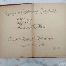 Alte Bücher - Atlas apuntes de construcciones civiles 1885 1886 - 90419219