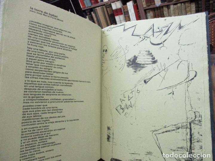 Libros antiguos: EL ZOO DOMESTICADO DOCE POEMAS DE PAUL STEINBERG ILUSTR. PORTA-MISSÉ. 1 DIBUJO ORIGINAL. - Foto 7 - 90441414