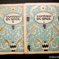 Libros antiguos: SANTIAGO RUSIÑOL.(2 TOMOS) MONOGRAFIAS DE ARTE.AÑO 1920/30. Lote 90573340