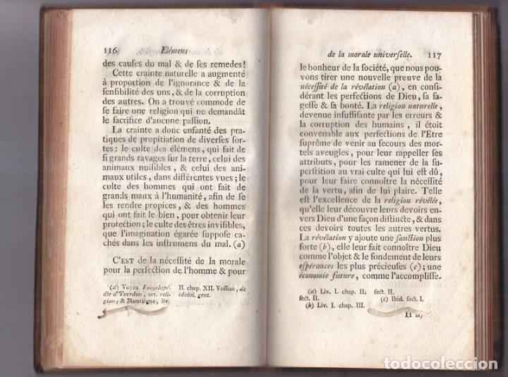 Libros antiguos: LIBRO EN FRANCÉS: BERTRAND. MORAL UNIVERSAL. DEBERES DEL HOMBRE. NEUCHATEL 1775. - Foto 3 - 90608020