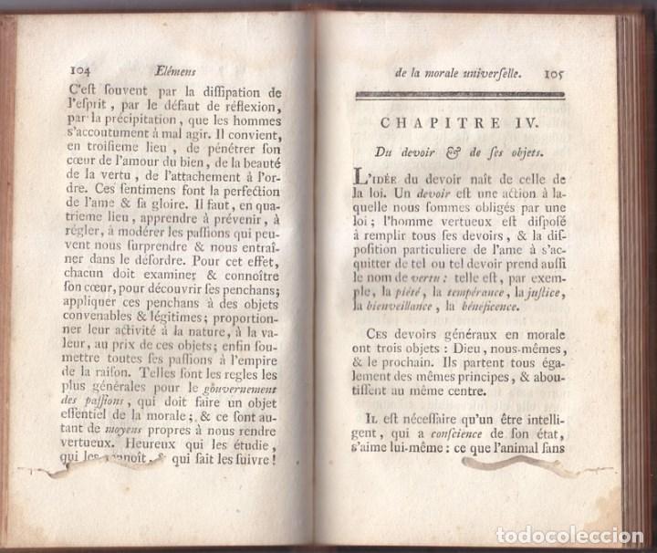 Libros antiguos: LIBRO EN FRANCÉS: BERTRAND. MORAL UNIVERSAL. DEBERES DEL HOMBRE. NEUCHATEL 1775. - Foto 4 - 90608020