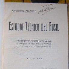 Libros antiguos: ESTUDIO TECNICO DEL FUSIL AÑO 1918. Lote 90610390