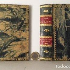 Libros antiguos: ENCUADERNACIÓN S XIX (1844 Y 1855). PLENA PIEL JASPEADA, CON RUEDAS EN LOS PLANOS. LOMO CUAJADO. TEJ. Lote 90691445