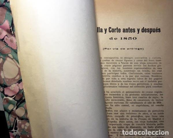 Libros antiguos: Roch: La Villa y Corte de Madrid en 1850. Crónica retrospectiva de hace tres cuartos de siglo (1ª ed - Foto 2 - 90780730