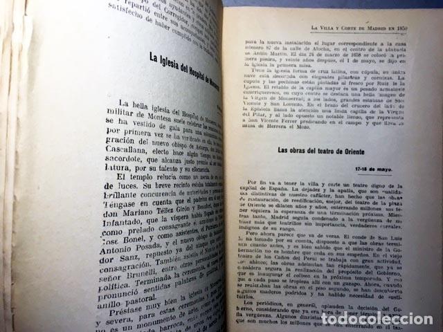 Libros antiguos: Roch: La Villa y Corte de Madrid en 1850. Crónica retrospectiva de hace tres cuartos de siglo (1ª ed - Foto 3 - 90780730