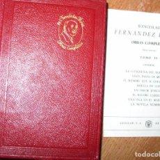 Alte Bücher - WENCESLAO FERNANDEZ FLORES TOMO IV OBRAS COMPLETAS - 90823150
