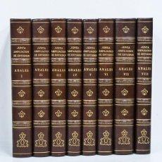 Libros antiguos: ANALES DE LA JUNTA PARA AMPLIACIÓN DE ESTUDIOS E INVESTIGACIONES CIENTÍFICAS. [8 TOMOS] 1909. PIEL. Lote 90932800