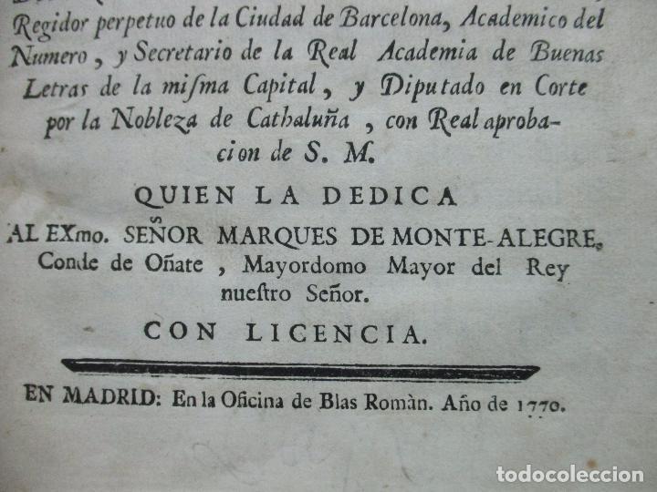 Libros antiguos: VIDA, MARTYRIOS, Y GRANDEZAS DE SANTA EULALIA...RAMON DE PONSICH Y CAMPS. 1770. - Foto 3 - 90988145