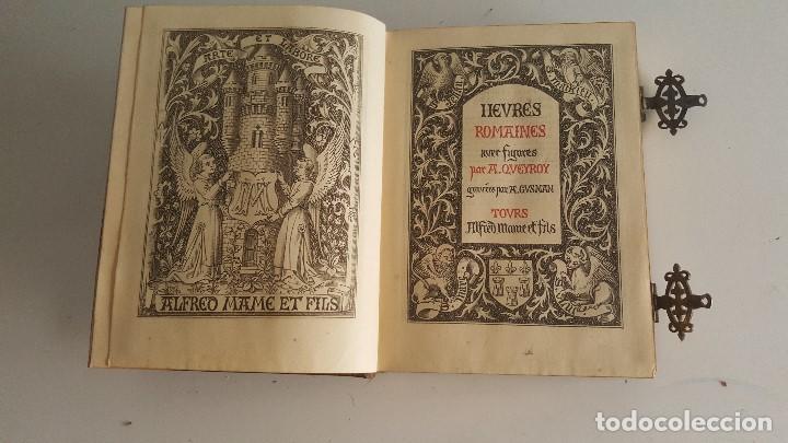 Libros antiguos: Horas romanas con las figuras de A. Queroy grabado por A. Gusman - Foto 8 - 91016875