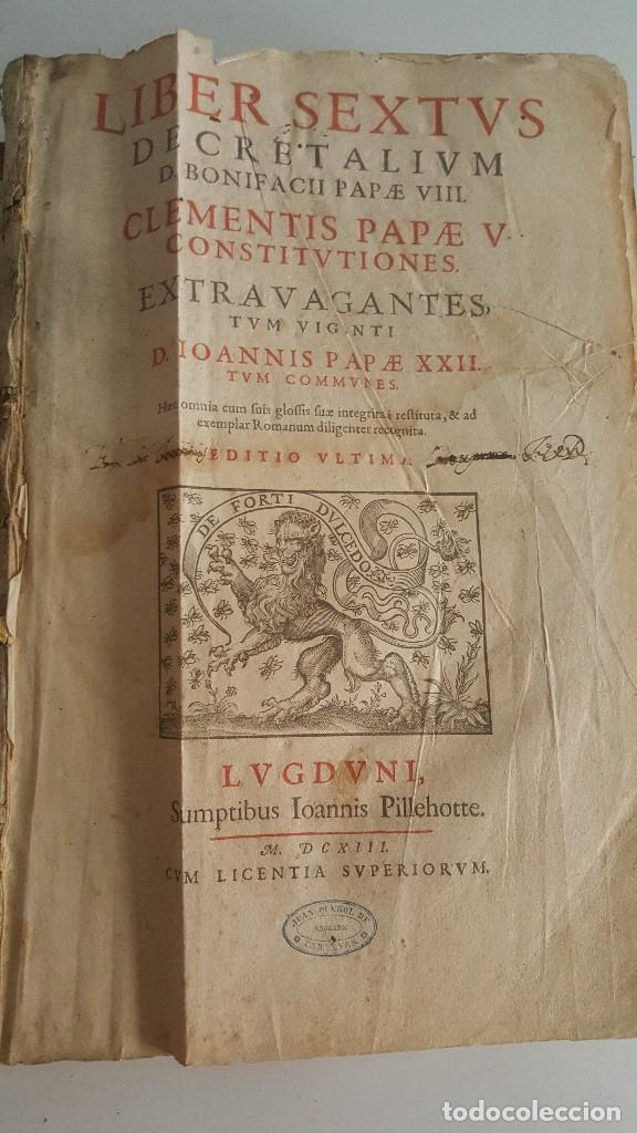 Libros antiguos: Liber sextus Decretalium D. Bonifacij Papae VIII -1613 - Foto 3 - 91026505