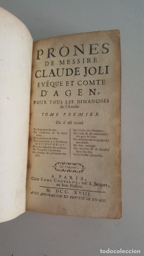 Libros antiguos: PRONES DE MESSIRE CLAUDE JOLIE EVEQUE ET COMTE D'AGEN 1718 - Foto 2 - 91027240