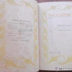 Libros antiguos: MALA LLEVOR PER MIQUEL ROGER I CROSA – PAPER JAPÓ - BIBLIOFILIA - SAN FELIU DE GUIXOLS - 1914. Lote 91170185
