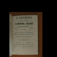 Alte Bücher - El manuscrito. Miguel Arañó - 91380960