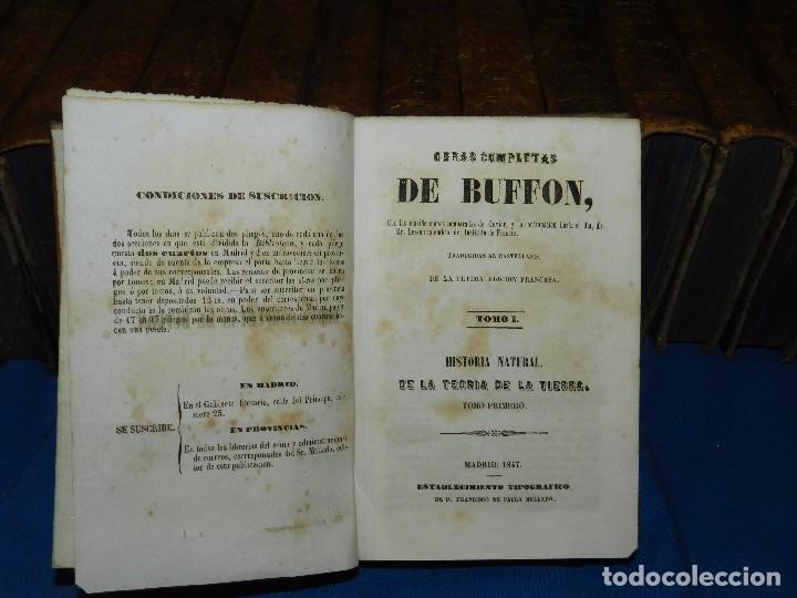 Libros antiguos: (MF) OBRAS COMPLETAS DE BUFFON , COMPLETA 35 VOLUMENES , MADRID 1847 - HISTORIA NATURAL - Foto 3 - 91440780