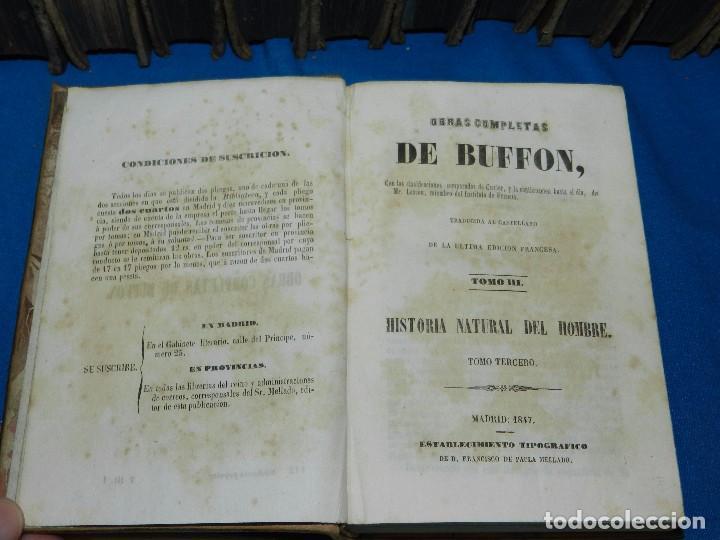 Libros antiguos: (MF) OBRAS COMPLETAS DE BUFFON , COMPLETA 35 VOLUMENES , MADRID 1847 - HISTORIA NATURAL - Foto 5 - 91440780