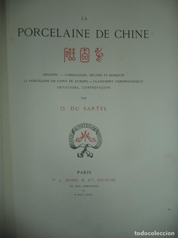 RARO LIBRO /GUIA - LA PORCELAINE DE CHINE O DU SARTEL - 1881 (Libros Antiguos, Raros y Curiosos - Bellas artes, ocio y coleccionismo - Otros)