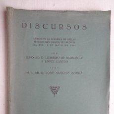 Libros antiguos: DISCURSOS LEIDOS EN LA ACADEMIA DE SAN CARLOS POR DE SALAREGUI Y SANCHIS SIVERA.–684. Lote 91505260