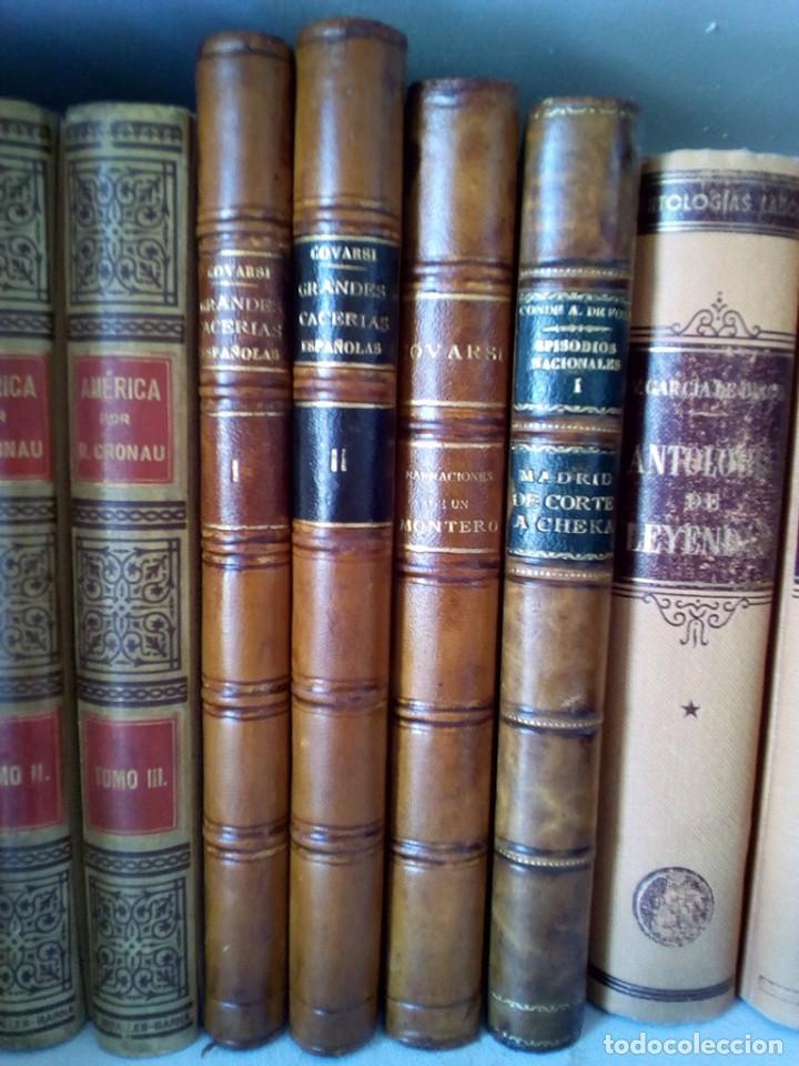 1910 CAZA NARRACIONES DE UN MONTERO GRANDES CACERIAS ESPAÑOLAS CINEGETICA 3 TOMOS 26 CMS (Libros Antiguos, Raros y Curiosos - Bellas artes, ocio y coleccionismo - Otros)