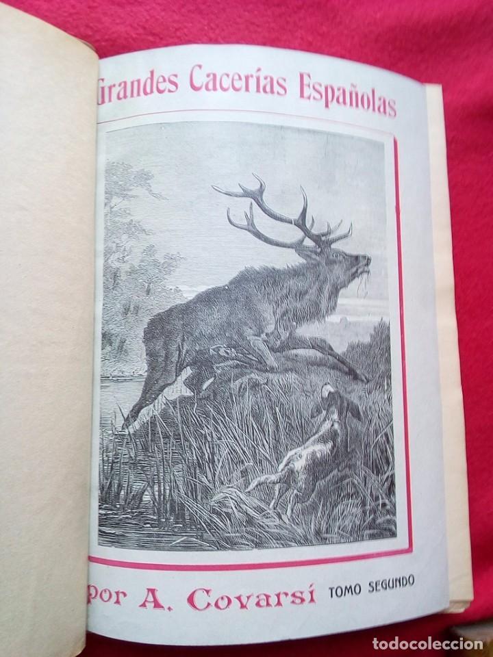 Libros antiguos: 1910 CAZA NARRACIONES DE UN MONTERO GRANDES CACERIAS ESPAÑOLAS CINEGETICA 3 TOMOS 26 CMS - Foto 6 - 91607390