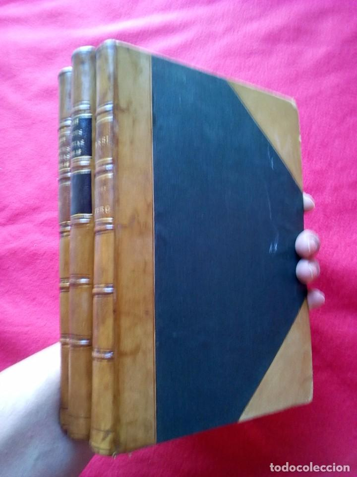 Libros antiguos: 1910 CAZA NARRACIONES DE UN MONTERO GRANDES CACERIAS ESPAÑOLAS CINEGETICA 3 TOMOS 26 CMS - Foto 12 - 91607390