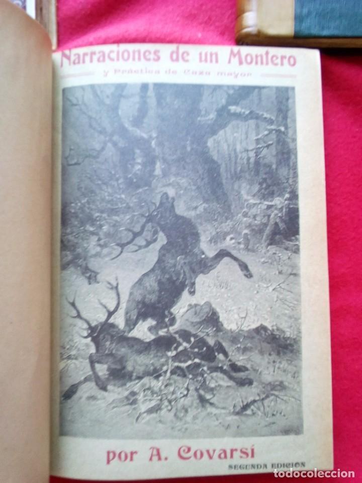 Libros antiguos: 1910 CAZA NARRACIONES DE UN MONTERO GRANDES CACERIAS ESPAÑOLAS CINEGETICA 3 TOMOS 26 CMS - Foto 14 - 91607390