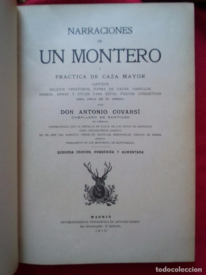 Libros antiguos: 1910 CAZA NARRACIONES DE UN MONTERO GRANDES CACERIAS ESPAÑOLAS CINEGETICA 3 TOMOS 26 CMS - Foto 17 - 91607390