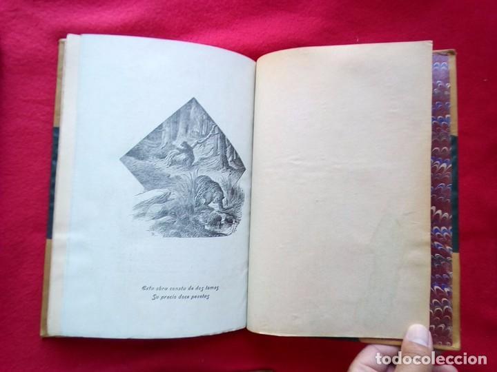Libros antiguos: 1910 CAZA NARRACIONES DE UN MONTERO GRANDES CACERIAS ESPAÑOLAS CINEGETICA 3 TOMOS 26 CMS - Foto 19 - 91607390