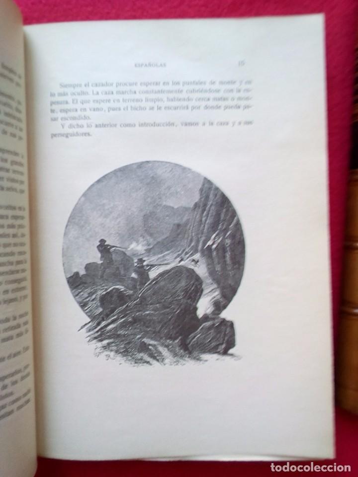 Libros antiguos: 1910 CAZA NARRACIONES DE UN MONTERO GRANDES CACERIAS ESPAÑOLAS CINEGETICA 3 TOMOS 26 CMS - Foto 22 - 91607390