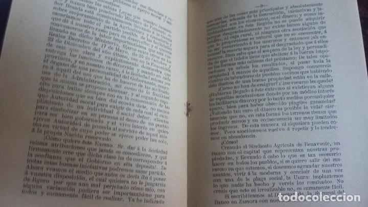 Libros antiguos: COOPERACION AGRICOLA BENITO LEON GREMIO LABRADORES DE BENAVENTE ZAMORA 1908.16 PG - Foto 2 - 91705650