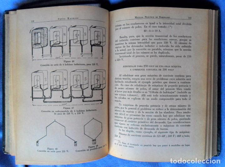Libros antiguos: BOBINAJES Manual Práctico De Bobinajes Y Cálculo De Bobinajes. Fritz Raskop. - Foto 4 - 91753785